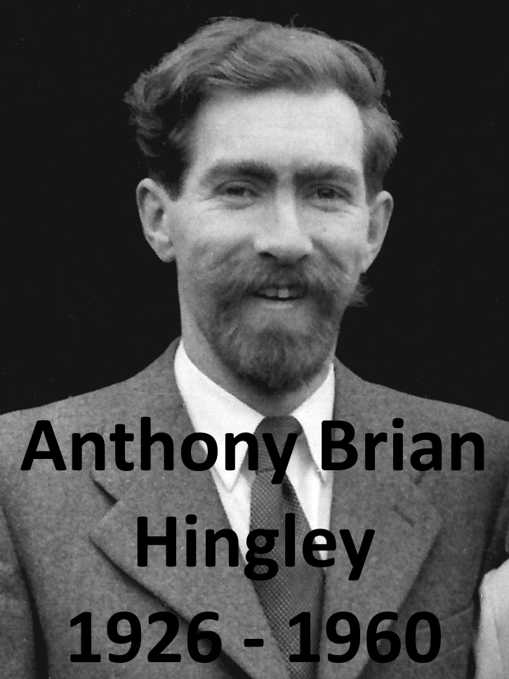 Anthony Brian Hingley on his wedding day
